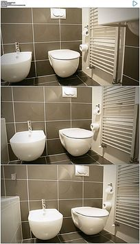 浴室厕所卫生间马桶高清实拍视频素材