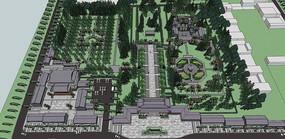 武大郎墓地中式文化景点