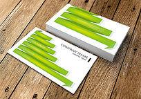 创意绿色丝带效果名片
