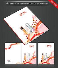 化妆品行业女性画册封面