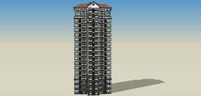 美式住宅建筑模型