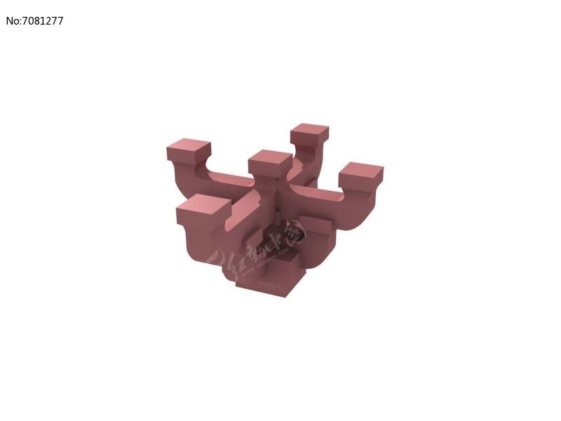 斗拱劈山结构分解图
