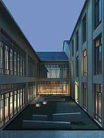 新中式景观楼
