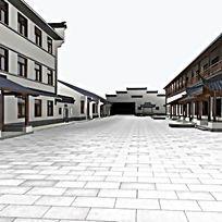 中式古典牌坊商业楼