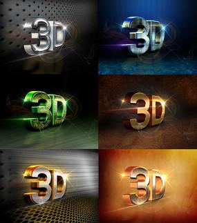 3D立体字体设计