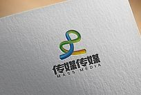 传媒公司变形logo
