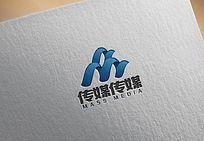 蓝色时尚传媒公司logo
