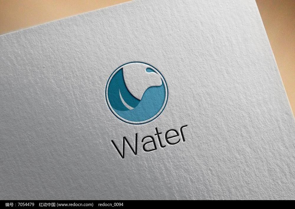 蓝色水元素logo图片