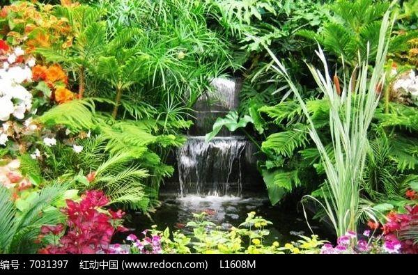 庭院跌水景观图片