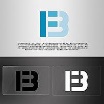 B字母组合LOGO AI