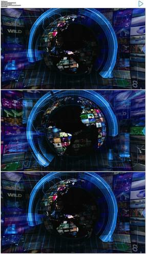 新闻动态_地球新闻栏目包装演播室动态视频素材