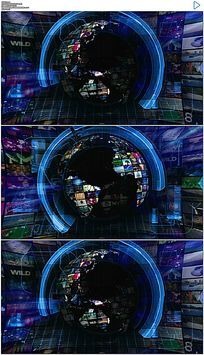 地球新闻栏目包装演播室动态视频素材
