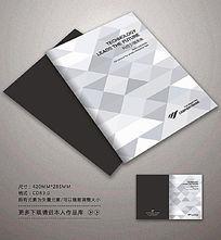 简约黑白色块封面设计
