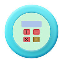 计算器小清新版icon PSD