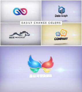 三维立体logo标志演绎ae模板