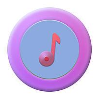 音乐小清新版icon PSD