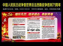 中国人民抗日战争暨世界反法西斯战争胜利71周年展板