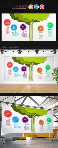 大树立体企业文化墙照片墙