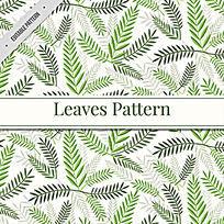 绿色的树叶茶叶包装盒图案矢量素材