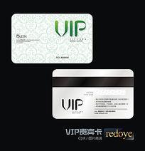 绿色花纹背景VIP会员卡