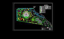 人民广场局部绿地总平面图