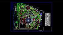 文化广场绿化工程总平面图