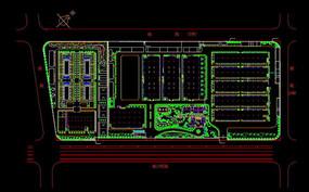 XX厂区CAD总平面图
