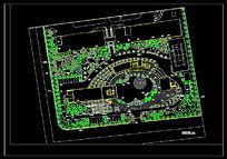 厂区绿化设计乔木配置平面图