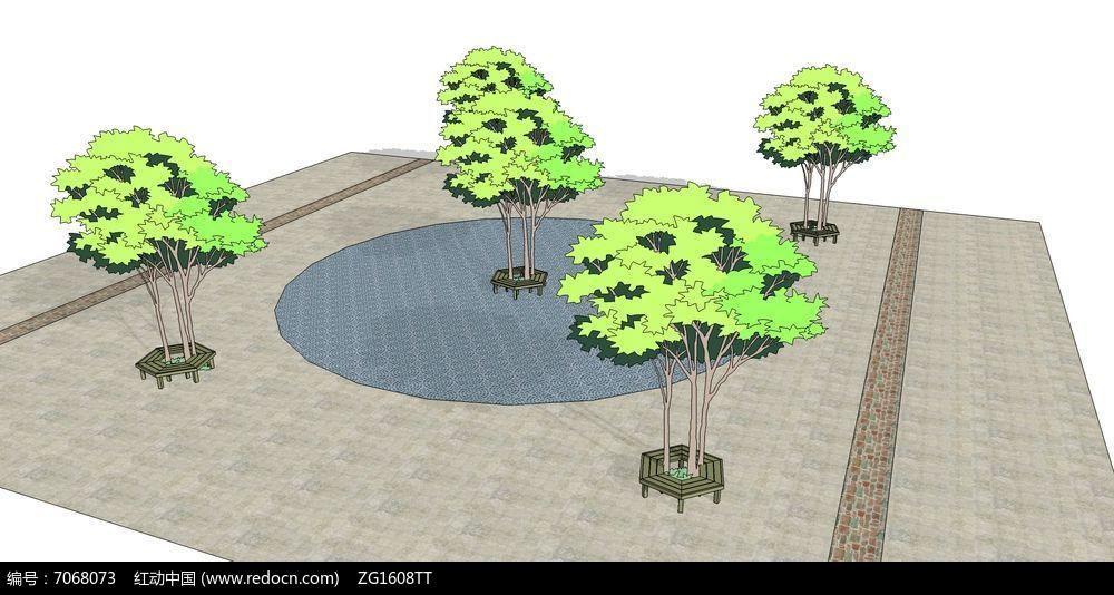 木质花坛设计图片