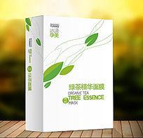 绿茶简约时尚面膜包装