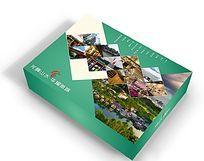 旅游赠送精品绿色包装盒设计