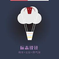 绵羊热气球logo