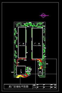 某厂区绿化平面图 dwg