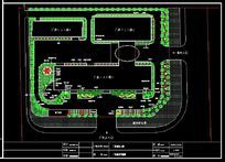 某工厂园林规划平面图 dwg