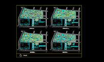 某花园总平面规划分析图