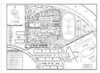 某小学规划平面图 dwg