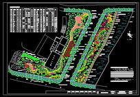 某镇工业园区绿地绿化设计图 dwg