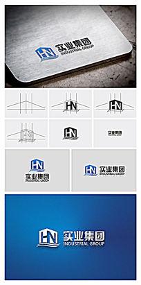 实业集团建筑行业logo