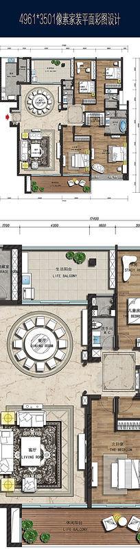 家装设计平面彩图高清效果图 JPG