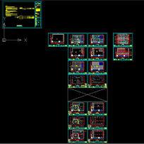 米芝莲茶餐厅全套施工图立面剖面节点大样图CAD设计