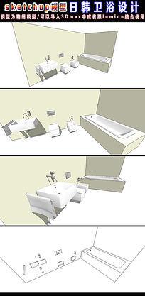 日韩卫浴组合设计SU模型