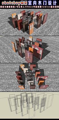 室内木门设计su模型