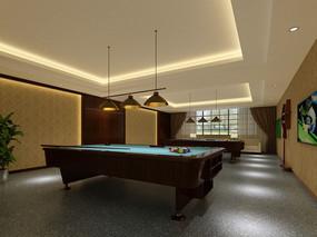 现代台球室