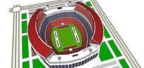 大型体育馆模型