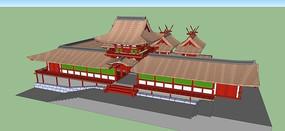 古建建筑群模型
