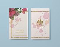 简约高端特种纸鲜花店名片设计模板