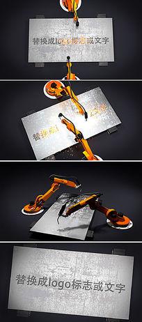 机器人手臂焊接logo开场片头ae模板