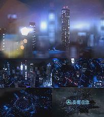 三维城市夜晚logo演绎会声会影模板