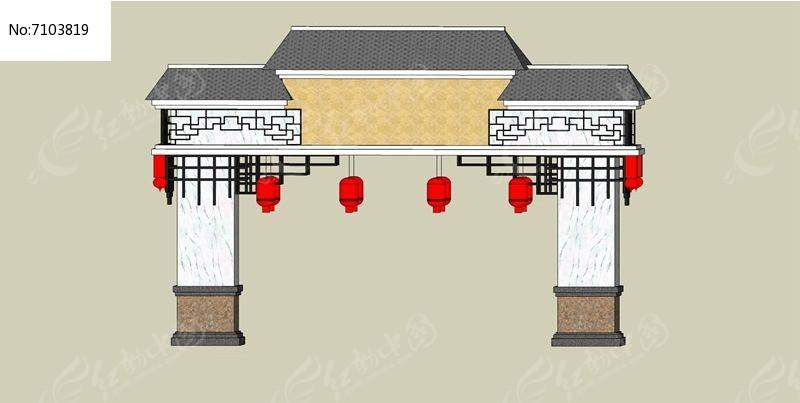 中式围墙图片欣赏图片-仿古围墙图片大全集|红砖围墙效果图大全|围墙