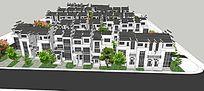 中式住宅区模型